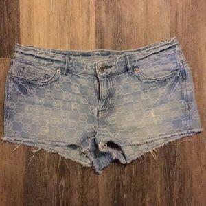 Michael Kors brand pattern jean shorts sz 4